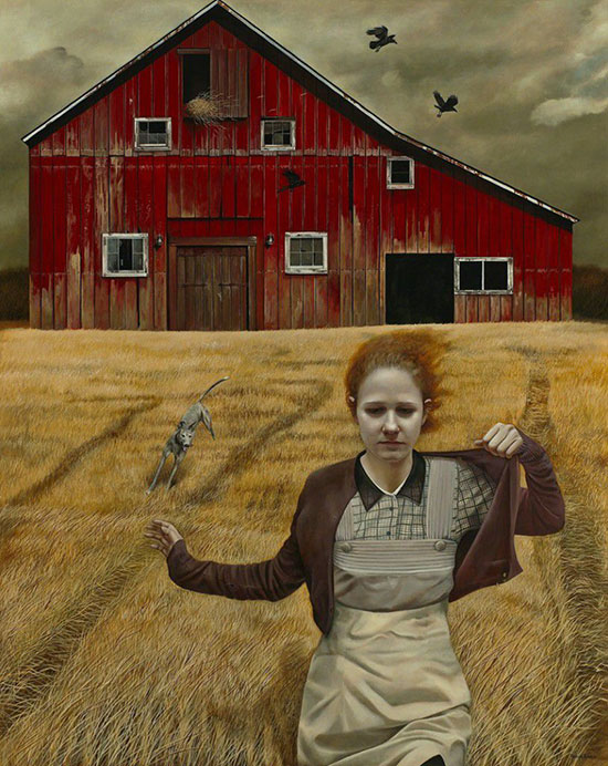 """""""Dream Chaser"""" by Andrea Kowch, 2013. Acrylic on canvas, 60 × 48 inches. Courtesy of RJD Gallery."""